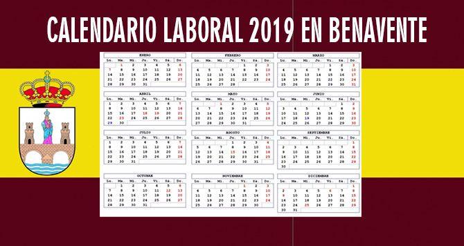 Calendario 20019 Con Festivos.Calendario Laboral En Benavente Para El 2019 Las Noticias