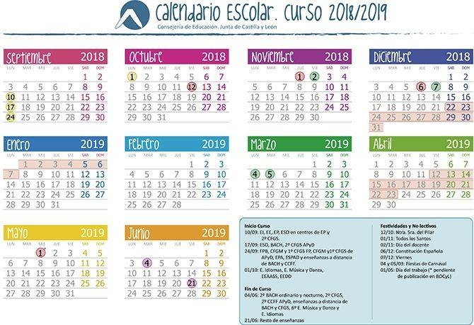 La Junta Da A Conocer El Calendario Escolar Para El Próximo